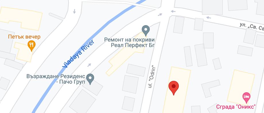 Нашият адрес - карта на Google
